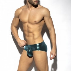 ES Collection - Shiny Trendy Push Up Brief Cobalt