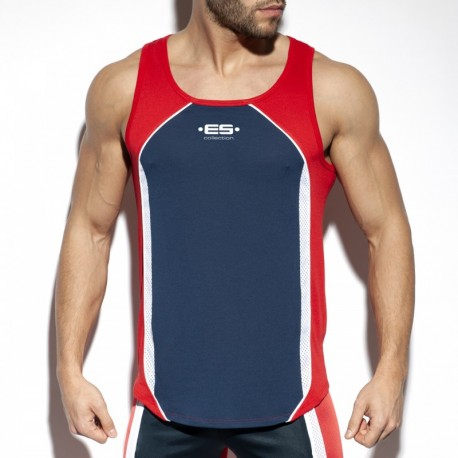 ES Collection - Sportive Tanktop Navy/Red