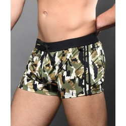 Andrew Christian - Glam Camouflage Jogger Shorts Military