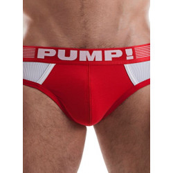 Ribbed Brief Red