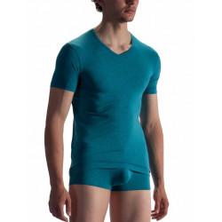 Olaf Benz - Red1863 V-neck Regular T-shirt Azur