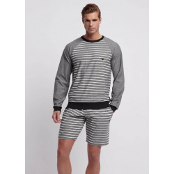 EA S19 - Loungewear Sweatshirt Black Stripes Ivory