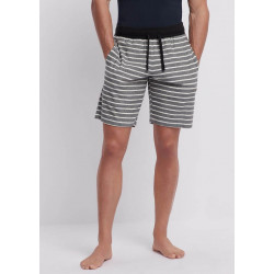 EA S19 - Loungewear Shorts Black Stripes Ivory