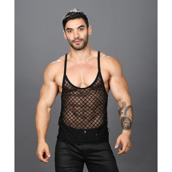 Andrew Christian - LATTICE LACE SHEER STRING TANK TOP