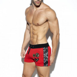 ES Collection - Army Padded Sport Shorts Red+Kaki