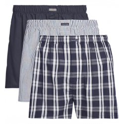 Calvin Klein - 3 Pack Woven Boxers Classic Fit  Blue