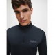 Calvin Klein - 1/2 Zip Long Sleeve T-Shirt Black