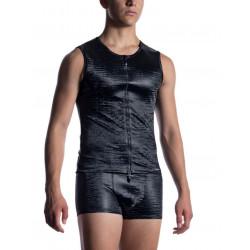 Manstore - M2052 Zipped Vest Black