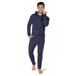 Skiny - SLoungewear Jacket Smokey Blue Melange